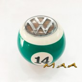 Bola de câmbio verde 14 do Fusca, Variant,TL, Karmann ghia, Brasília (ROSCA GROSSA)