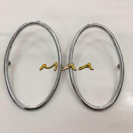 Aro da lente| lanterna traseira| pisca traseiro do Fusca 1956 até 1961, alumínio cromado, PAR