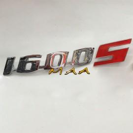 EMBLEMA 1600 S - ALUMÍNIO CROMADO