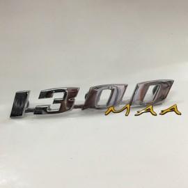 EMBLEMA 1300 - ALUMÍNIO CROMADO