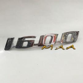 EMBLEMA 1600 - ALUMÍNIO CROMADO