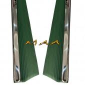 Estribo do Fusca Modelo Original , Verde , Com Friso Largo Liso PAR