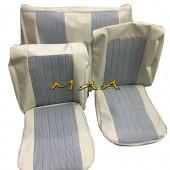 Forração capa banco Fusca 1964 até 1966 modelo pijaminha - Costura manual
